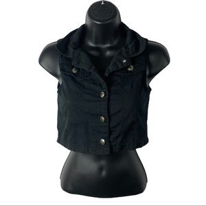 One step up black vest